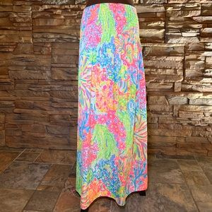 Lilly Pulitzer Bodhi Lovers Coral Maxi Skirt